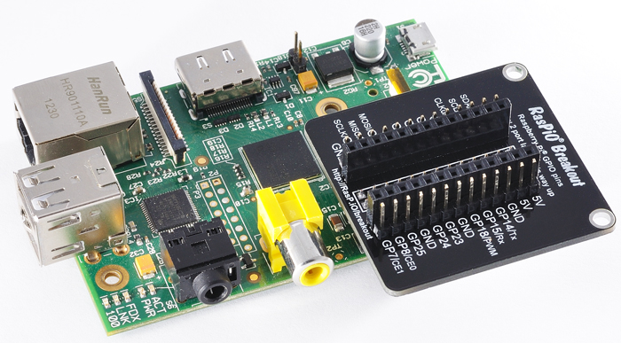 RasPiO® Breakout on the Pi