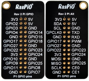 RasPiO Ports ID board for 26-pin Pi