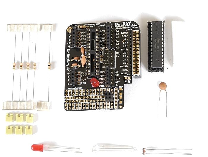 Step 11: solder 13-way male header