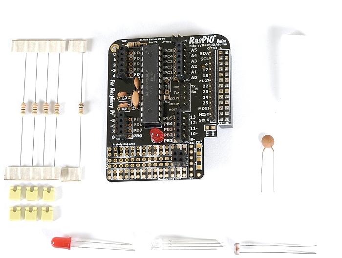 Step 12: fit ATMEGA328P-PU chip