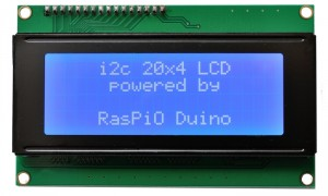 RasPiO LCD20x4 Powered by RasPiO Duino_700