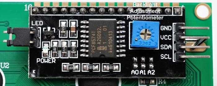 i2c Backpack - only 4 wires needed