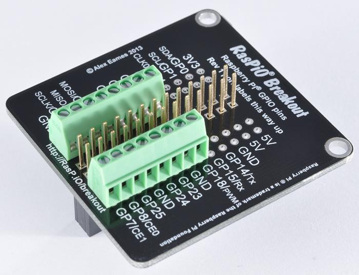 RasPiO Breakout with screw terminals