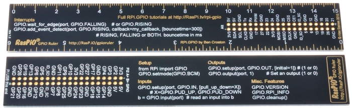 RasPiO GPIO Ruler production board